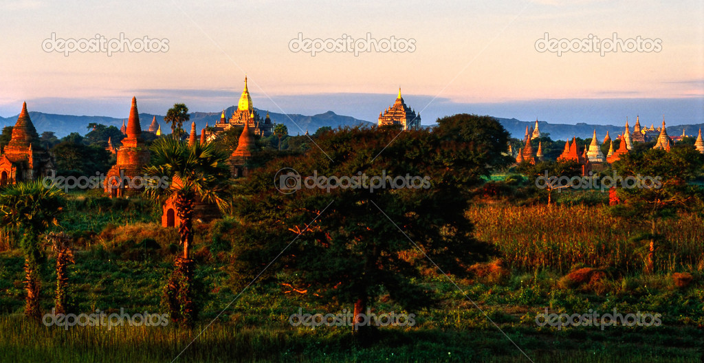 Bagan at Sunset, Myanmar.