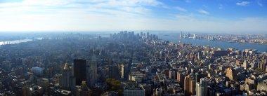 Panoramic view over lower Manhattan