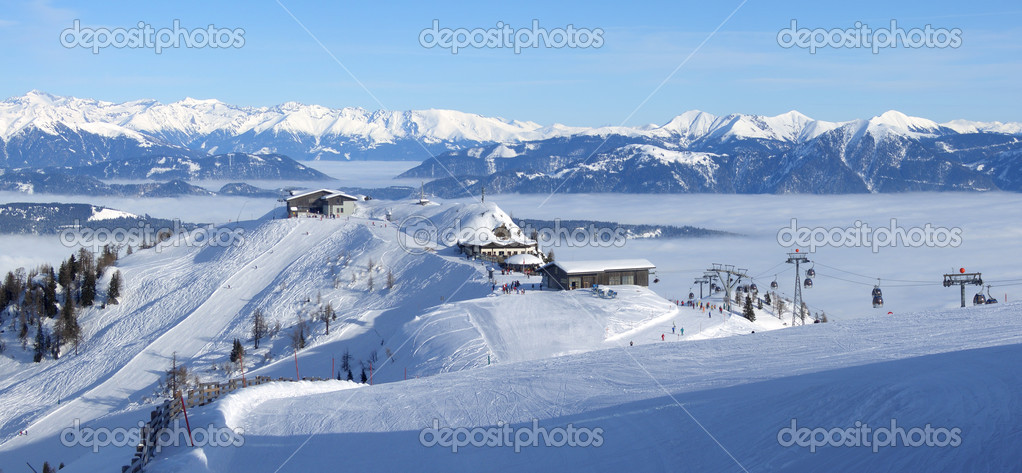Ski resort panorama