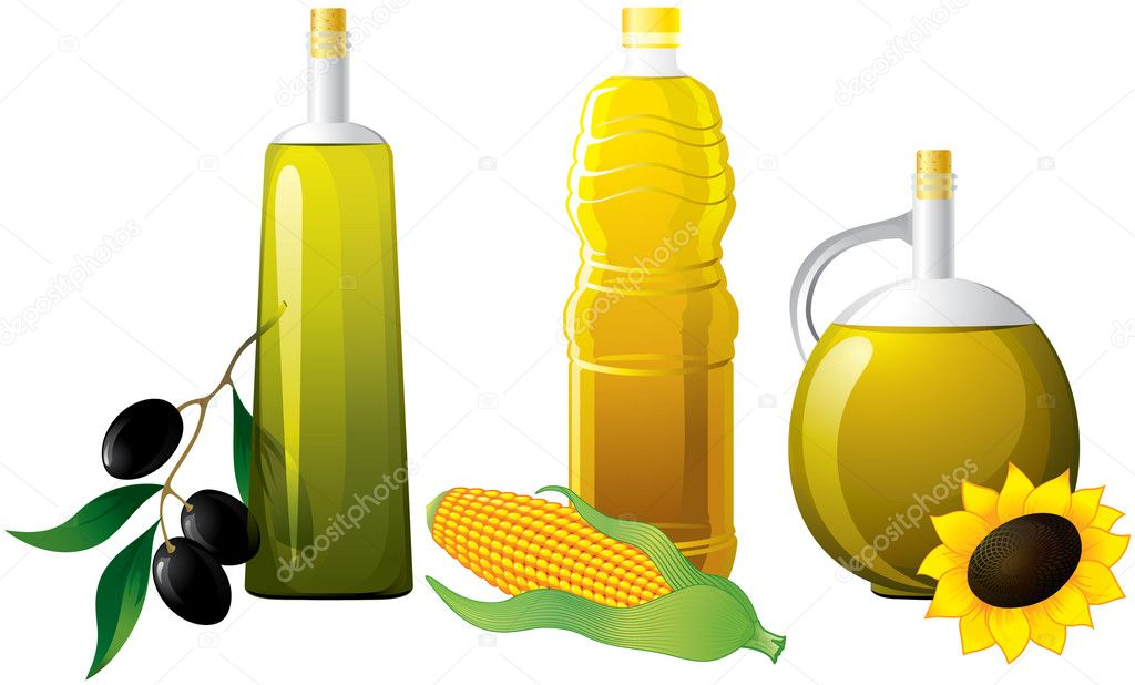 Set of bottle oil