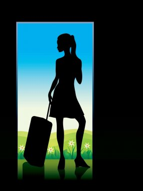 Girl with baggage