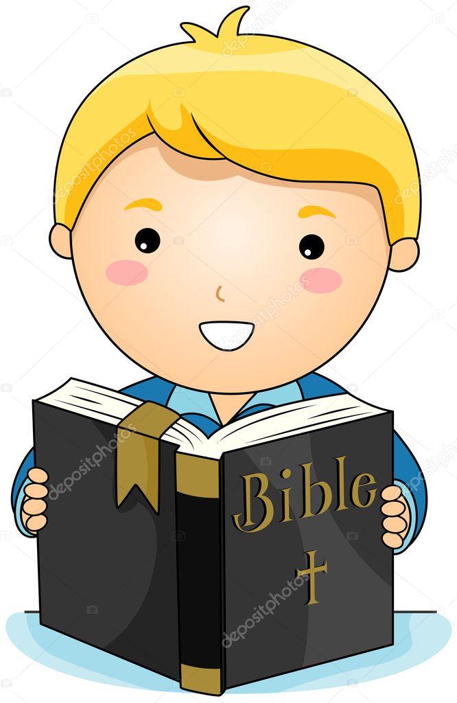 Dibujo De Familia Leyendo La Biblia Leyendo La Biblia Vector De