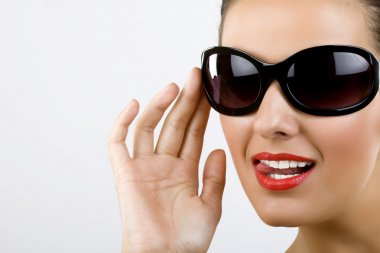 Woman with black sunglasses