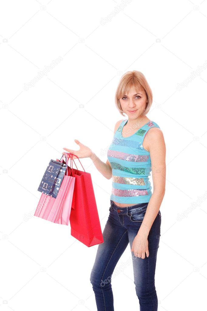 sexy Frau einkaufen