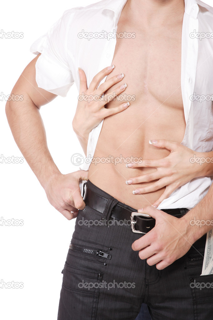 Фото торса мужчин с женской рукой
