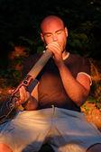 Didgeridoo-Spieler