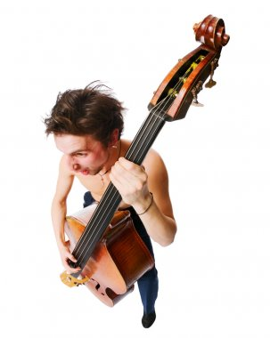 Musician with cello