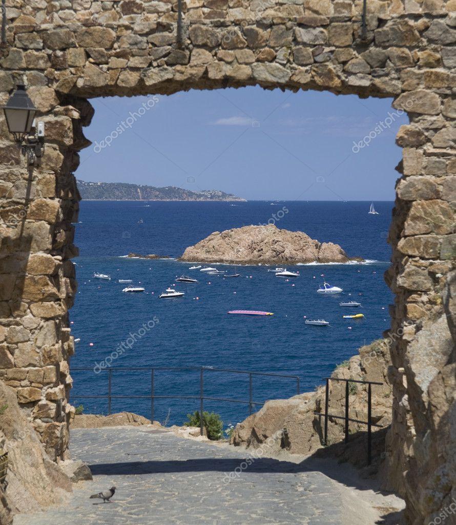 A gate on the Mediterranean Sea
