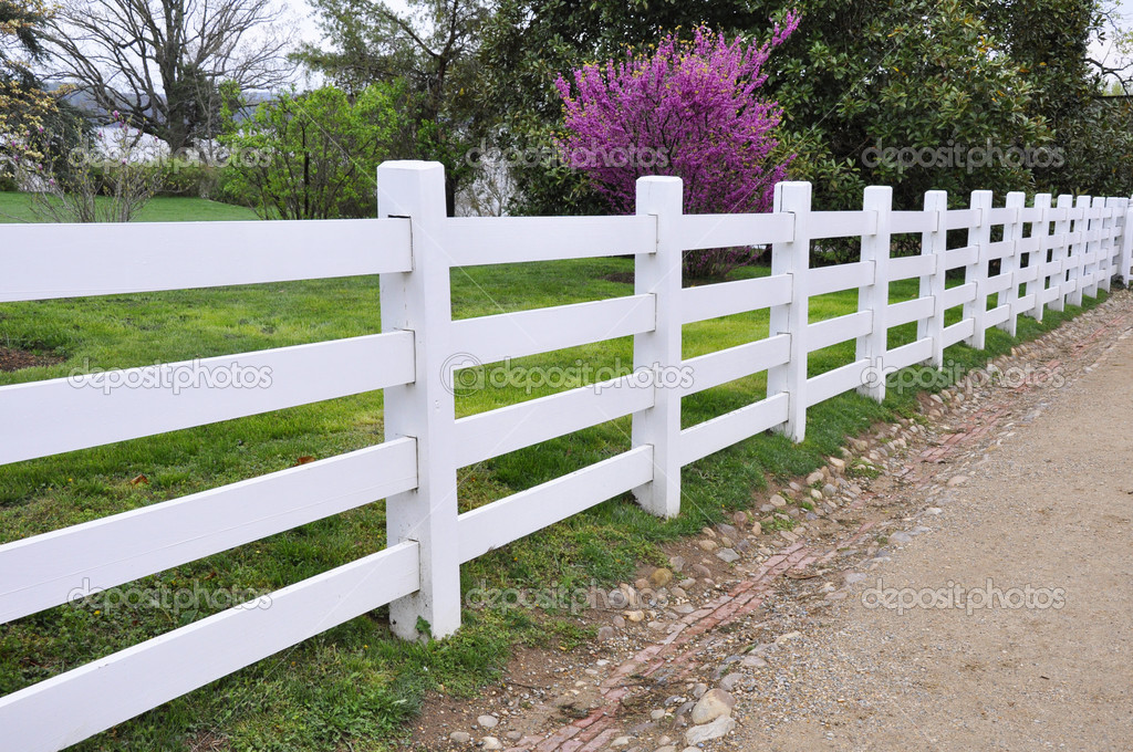 White wood fence