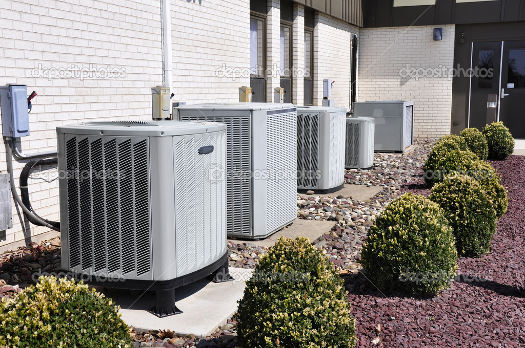 Several large air conditioning units