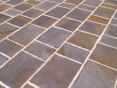 Slate tile floor abstract