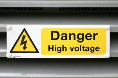Danger electric sign