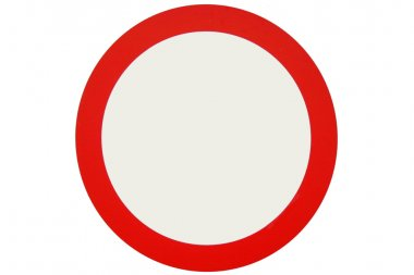 Red circle sign