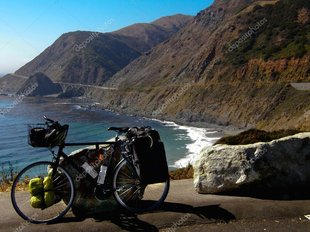 Bicycle on Pacific coast