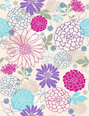 Flowers Seamless Repeat Pattern