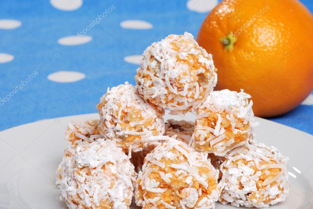 Closeup Of Orange Snowball Cookies Stock Photo C Mcgphoto 2438746