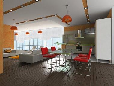 Interior to kitchens