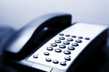 Close-up image of a telephone keypad. Selective focus produced with lensbaby stock vector