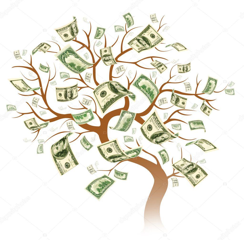 Dollar tree - A 100 Dollar Tree On White Background Photo By Jekyma
