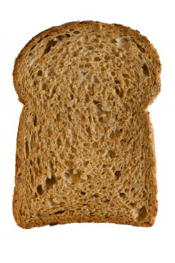 A slice of bread isolated on white