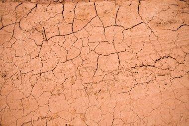 Dry cracked ground texture