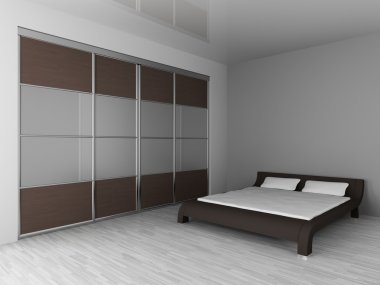 Wardrobe and bed