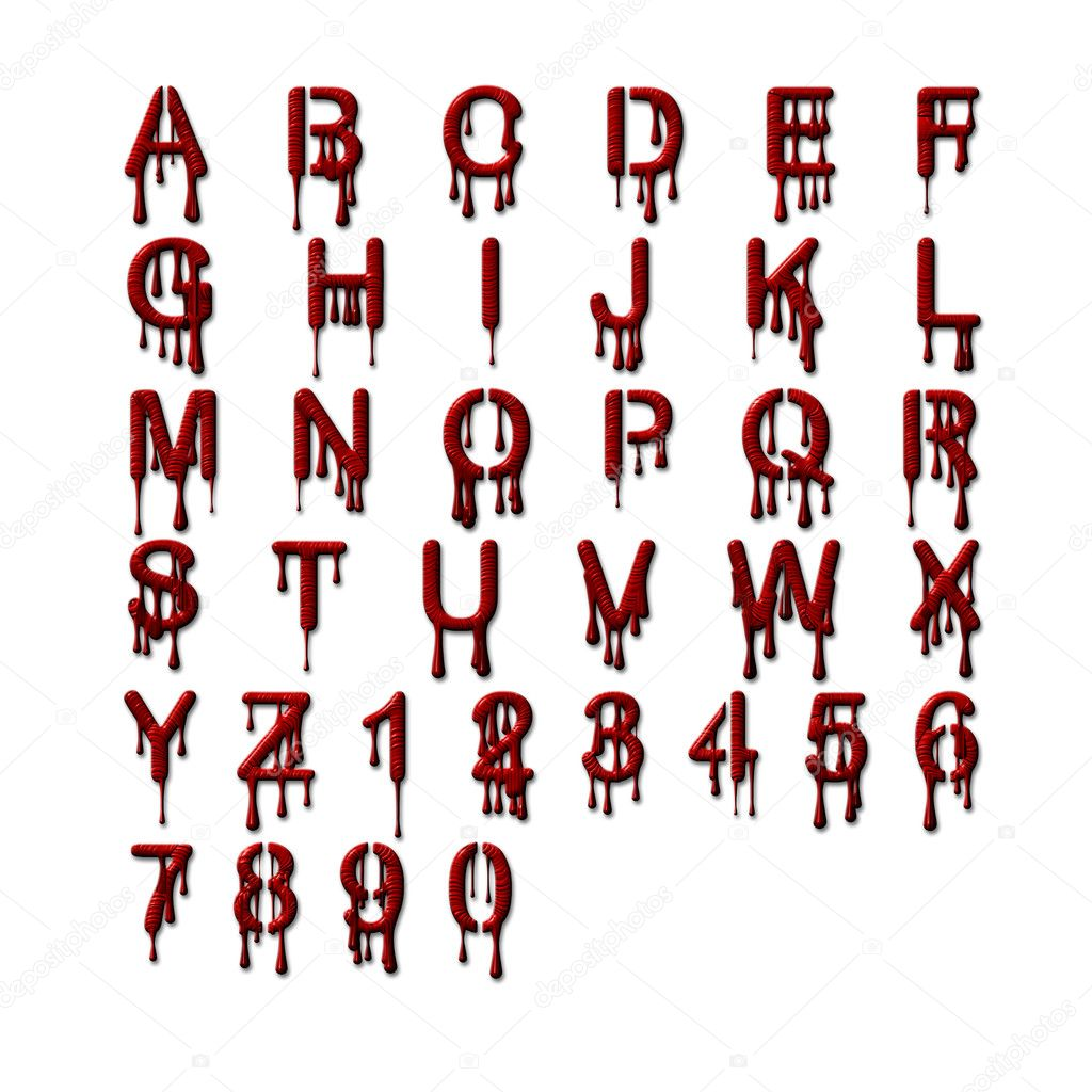 Alphabet set bleeding stock photo c pixelmann 2390186 for Alphabet photo letters