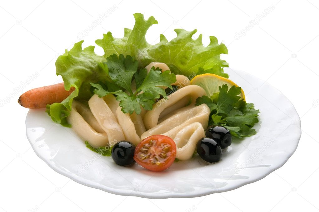 Salad with Calamari Rings