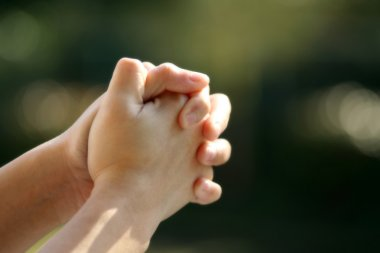 Praying (soft focus) stock vector