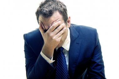 Portrait of a depressed businessman