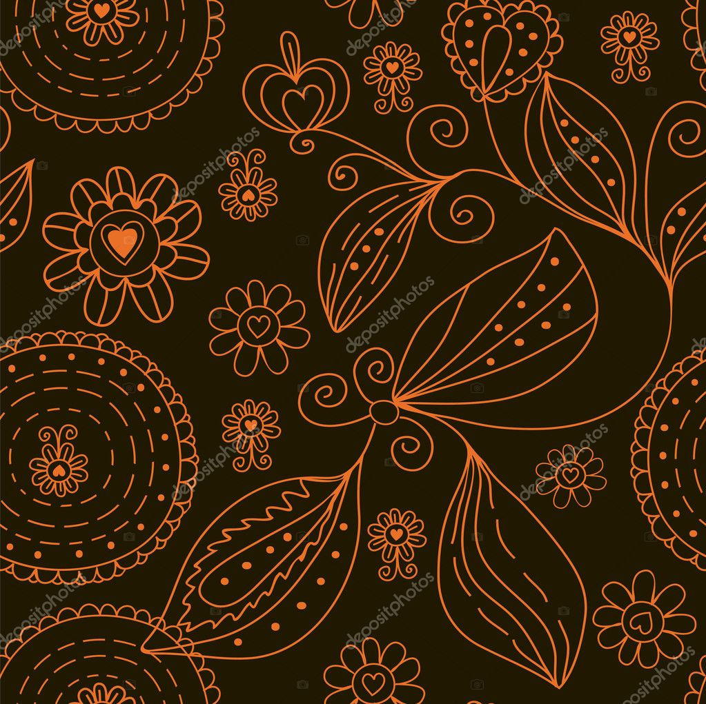Graphic seamless floral pattern