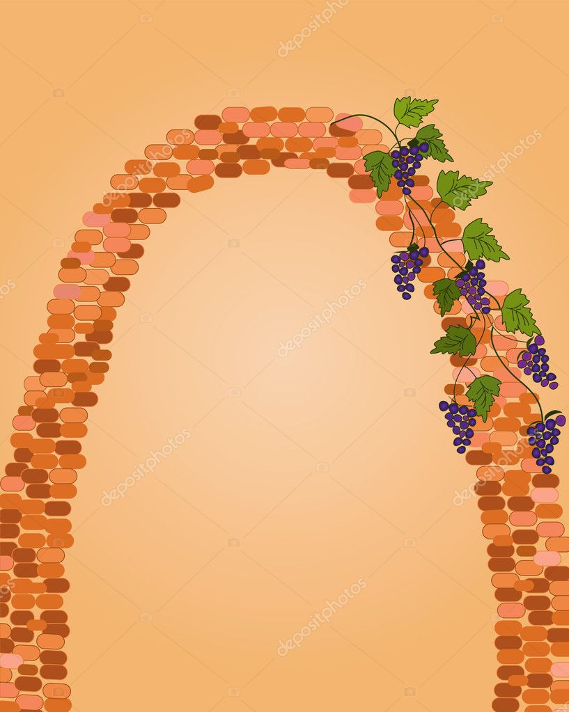 Brick arch with grape