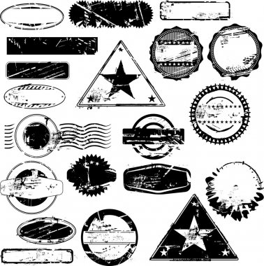 Collection of empty rubber stamps for your text. See other rubber stamp collections in my portfolio. clip art vector