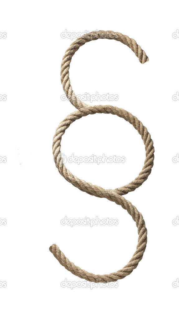 Rope twisted into symbol paragraph