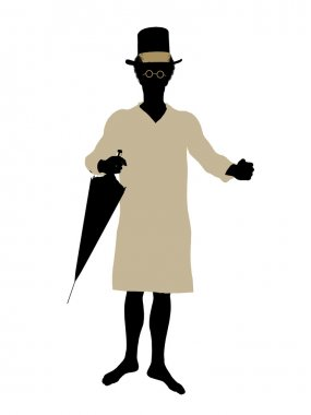 John of Peter Pan Silhouette Illustration