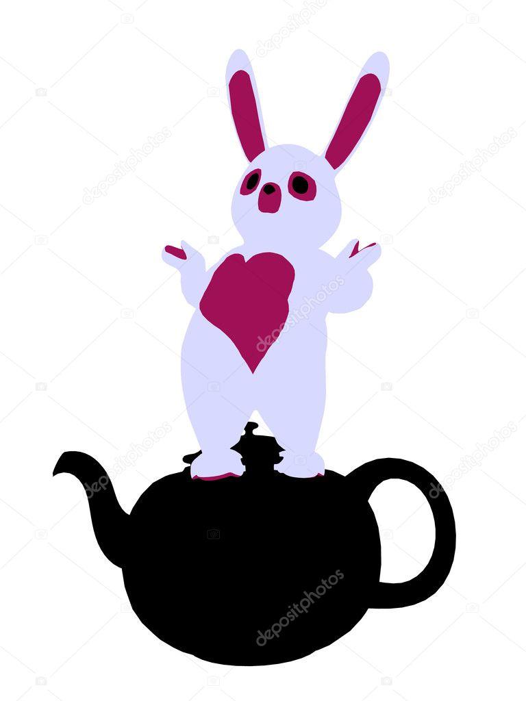 白いウサギ シルエット イラスト ストック写真 Kathygold 2636816