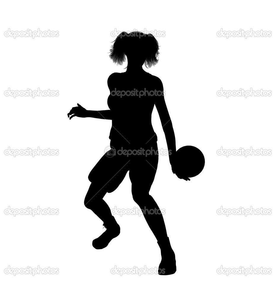 Female Basketball Player Illustration Silhouette — Stock Photo ... ba149eefd2