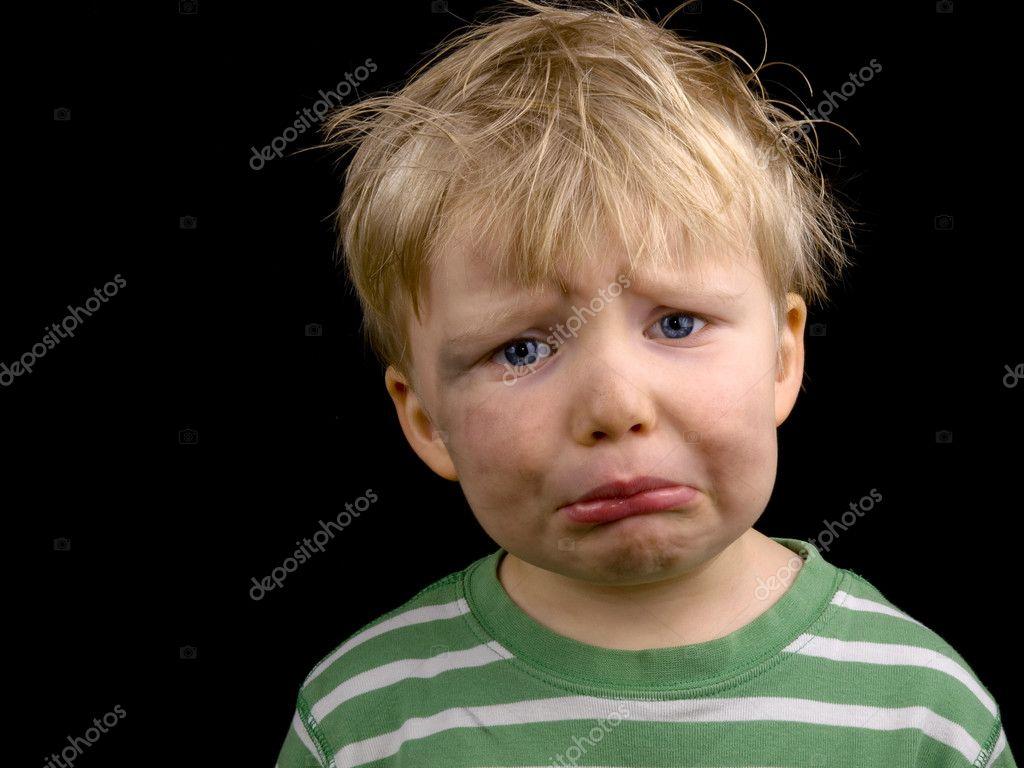 Very sad little boy