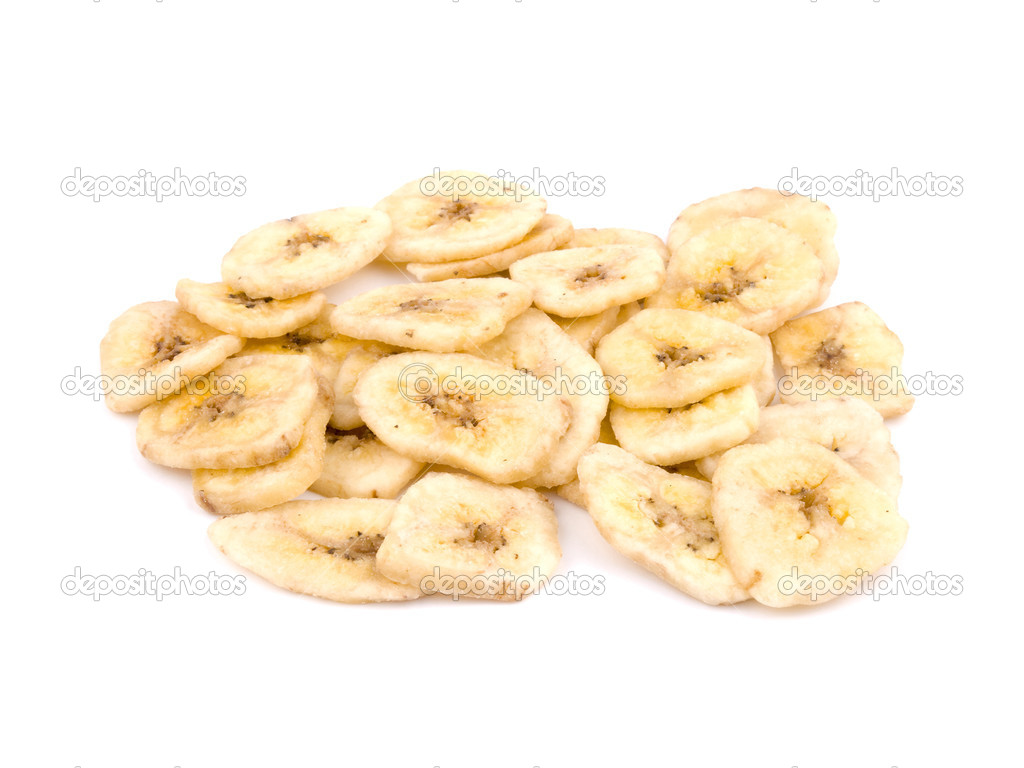 Healthy snack - banana chips