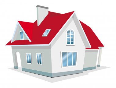 Vector Illustration of house stock vector