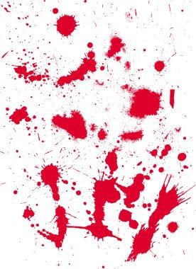 Grunge texture from blood splats