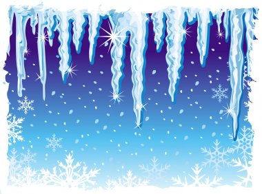 Background with icicle