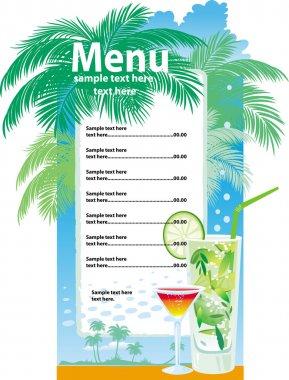 Template designs of cocktail menu