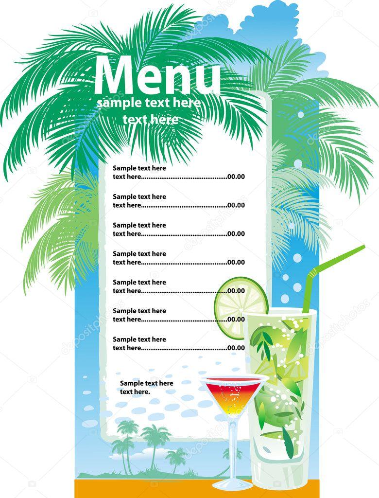 sjabloon ontwerpen van cocktailkaart — Stockvector © wikki33 #2607678