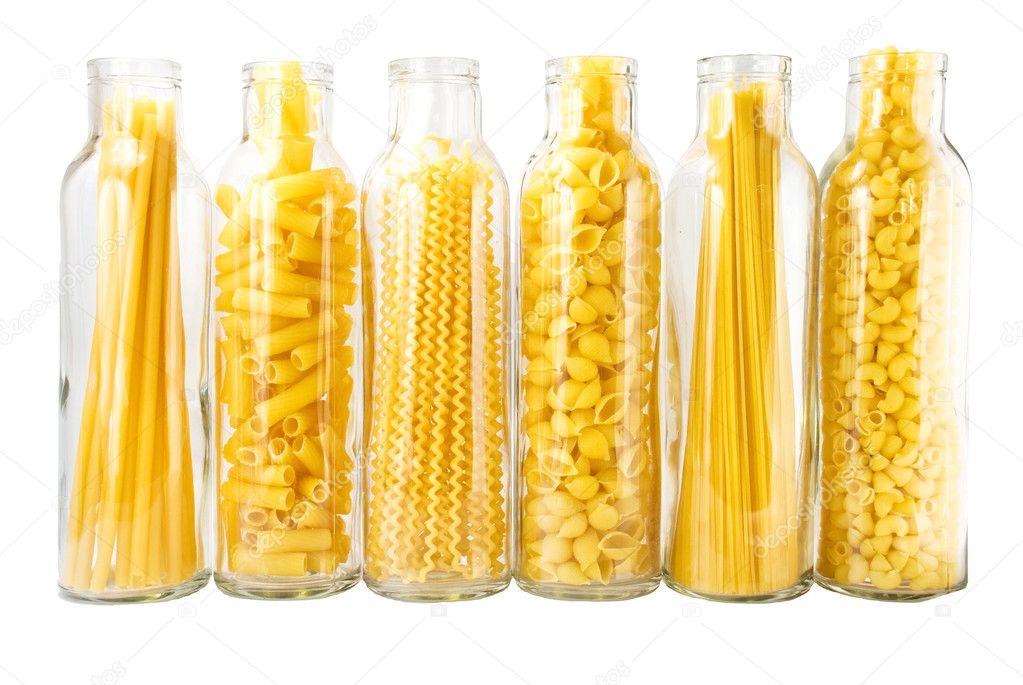 Different grades of pasta