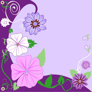 Floral Background 3 Flowers. Can add text.