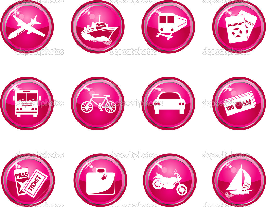 Travel Icon Buttons
