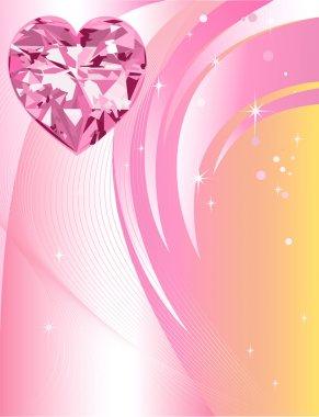 Pink Diamond Heart Background