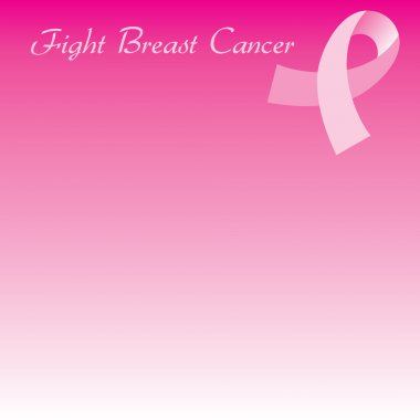 Pink Cancer Ribbon Seamless Background