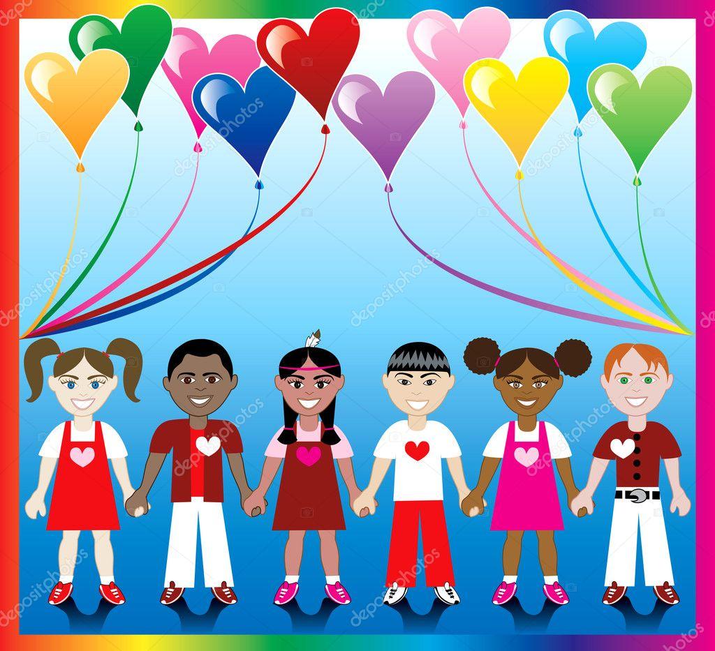 heart balloon kids 1 u2014 stock vector basheeradesigns 2500191